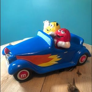 Vintage M&M ceramic car